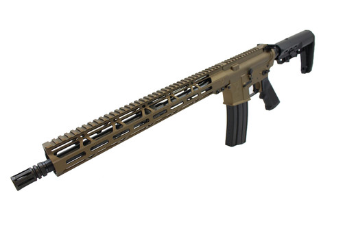 "5.56 Nato 'Operator Series' 16"" Government Complete Rifle / 1:8 Twist / 15"" MLOK Handguard / Burnt Bronze (Z54864)"