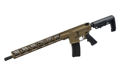 "5.56 Nato 'Operator Series' 16"" Government Complete Rifle / 1:8 Twist / 15"" MLOK Handguard / Burnt Bronze"