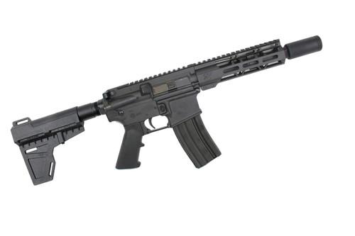 "300AAC Blackout 'Special Ops Series' 7.5"" Nitride Complete Pistol / 1:8 Twist / 7"" MLOK Handguard / Flash Can / KAK Blade"