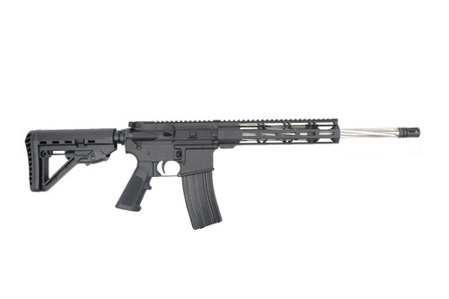".223 Wylde 'Operator Series' 16"" Fluted Spiral Stainless Steel Complete Rifle / 1:8 Twist / 10"" MLOK Handguard"