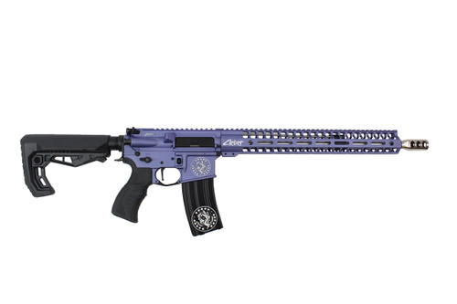 ".223 Wylde 16"" 'Baby Girl' Stainless steel Match Grade Complete Rifle / 1:8 Twist / 15""Mlok Handguard / Purple"