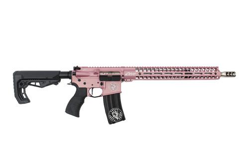 ".223 Wylde  16""  'Maverick' Stainless steel Match Grade Complete Rifle / 1:8 Twist / 15""Mlok  Handguard / Pink"