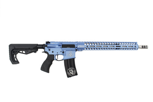 ".223 Wylde  16""  'Maverick' Stainless steel Match Grade Complete Rifle / 1:8 Twist / 15""Mlok  Handguard / Blue"