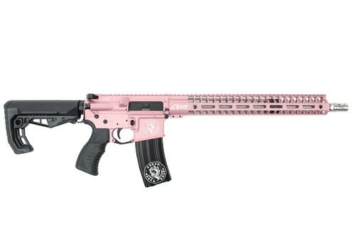 ".223 Wylde 16"" 'Pixie' Stainless steel Match Grade Complete Rifle / 1:8 Twist / 15""Mlok Handguard / Pink (ZP54923)"