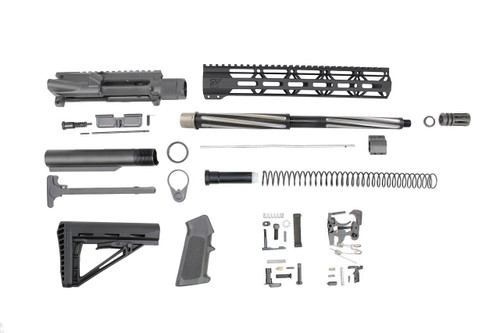".223 Wylde 'Operator Series' 16"" Bear Claw Fluted Builder Kit / 1:8 Twist / 12"" MLOK Handguard"