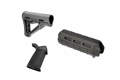 Magpul AR-15/M4 Combo Kit - MOE Grip, Carbine Length M Lok with CTR Stock