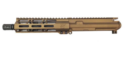 "Zaviar Firearms 5.56 Nato 'Operator Series' 7.5"" Nitride Upper Receiver / 1:7 Twist / 7"" MLOK Handguard / Burnt Bronze / A2"