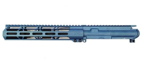 "Zaviar Firearms 7.62 ""Wolverine Series"" 7.5"" Nitride Upper Receiver / 1:7 Twist / 10"" MLOK Handguard / Titanium Blue"