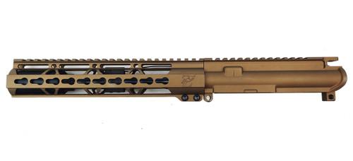 "Zaviar Firearms 7.62x39 'Wolverine Series' 7.5"" Nitride Upper Receiver / 1:7 Twist / 10"" Keymod Handguard / Burnt Bronze"