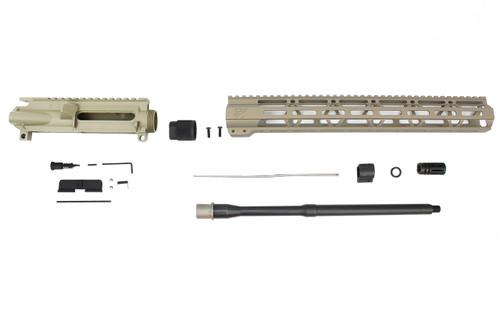 "Zaviar Firearms 5.56 Nato 'Operator Series' FDE 16"" Nitride Government Upper Kit / 1:8 Twist / 15"" MLOK"