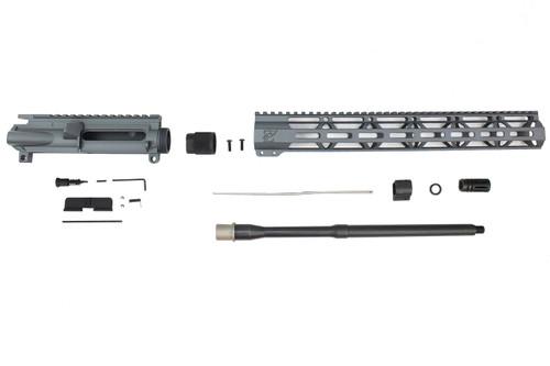 """Zaviar Firearms 5.56 Nato 'Operator Series' Sniper Grey 16"""" Nitride Government Upper Kit / 1:8 Twist / 15"""" MLOK"""