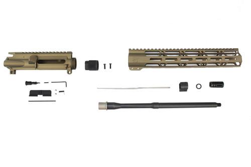 "Zaviar Firearms 5.56 Nato 'Operator Series' Burnt Bronze 16"" Nitride Government Upper Kit / 1:8 Twist / 12"" MLOK"