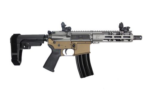 "Zaviar Firearms **LIMITED EDITION**  300AAC Blackout 'Special Ops Series'  7.5""  Complete Pistol / 1:8 Twist  / 7"" MLOK Handguard / Tungsten Grey & Midnight Bronze"
