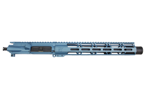 "Zaviar Firearms 5.56 Nato 'Operator Series' 10.5"" Nitride Upper Receiver / 1:7 Twist / 12"" MLOK Handguard / Titanium Blue (Z54112-TB)"
