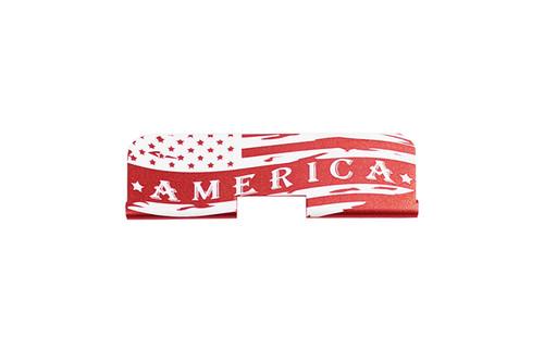 "Zaviar Firearms ""America"" AR-15 Upper Receiver Dust Cover Red"
