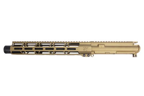 "Zaviar Firearms 5.56 Nato 'Operator Series' 10.5"" Nitride Upper Receiver / 1:7 Twist / 12"" MLOK Handguard / Burnt Bronze (Z54112-BB)"