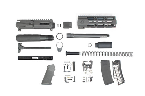 "9mm 'Stinger Series' 7.5"" - 8.5"" Overall Nitride Endo-Mag Builder Kit / 1:10 Twist / 7"" MLOK Handguard"