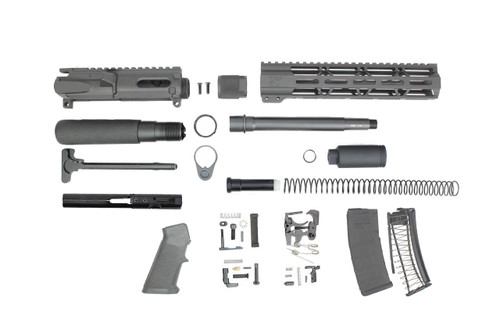 "9mm 'Stinger Series' 7.5"" - 8.5"" Overall Nitride Endo-Mag Builder Kit / 1:10 Twist / 10"" MLOK Handguard"