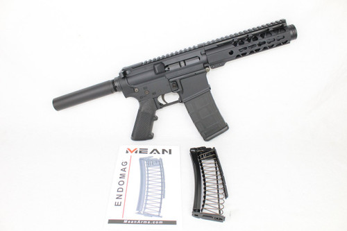 "AR9 CONVERTED ZAVIAR STINGER SERIES COMPLETE PISTOL 4.5"" 9mm 1/10 NITRIDE 7"" RAIL (PAIRED WITH 5.56 LOWER + 9MM CONVERSION MAGAZINE)"