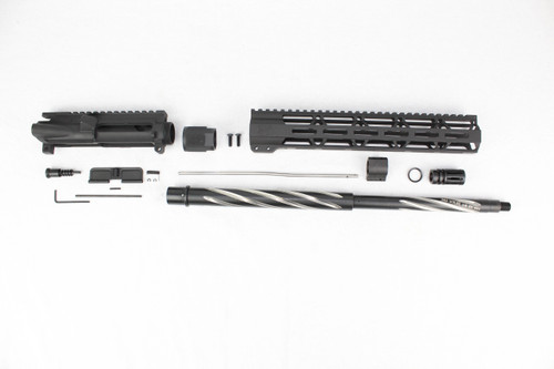 "ZAVIAR 18"" .223 WYLDE BEAR CLAW FLUTED UPPER KIT / 1:8 TWIST / 12"" MLOK HANDGUARD"