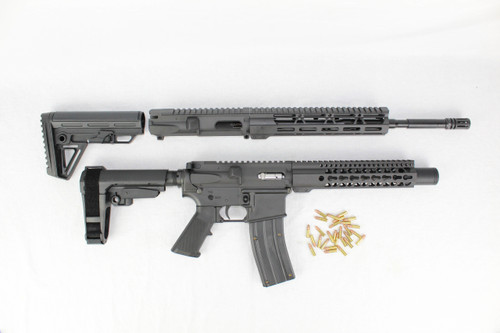 "ZAVIAR .22LR SPITFIRE SERIES TWIN GUN SET (PISTOL/CARBINE) 16"" & 9"" AR-22 PAIRED WITH 5.56 LOWER + 25RD .22LR AR15 MAGAZINE"