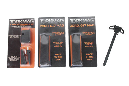 TORKMAG G-BLOCK MAGWELL ADAPTER KIT, X2 20RD G17 MAGAZINES
