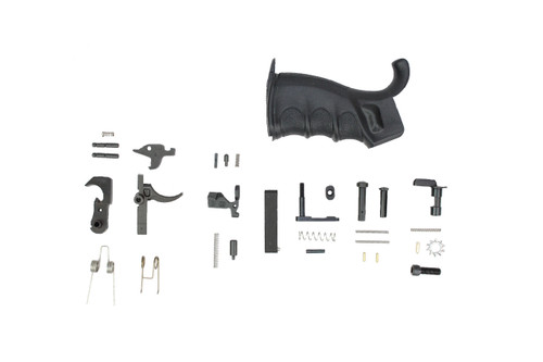Zaviar - Lower Parts Kit .223 / 5.56 Black Hammer and Trigger With Competition Grip