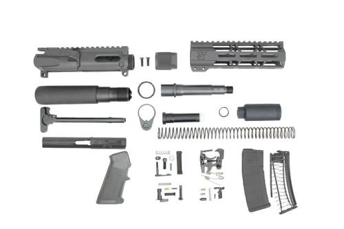 """9mm 'Stinger Series' 4.5"""" - 5.5"""" Overall Nitride Endo-Mag Builder Kit / 1:10 Twist / 7"""" MLOK Handguard"""