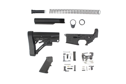 Zaviar Stripped Lower Receiver, Parts Kit, and MIL-SPEC Predator Stock Kit