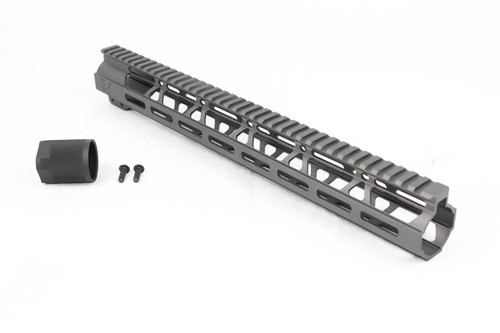 "Zaviar Sniper Grey CERAKOTED 15"" MLOK Free-Float Handguard AR-15"
