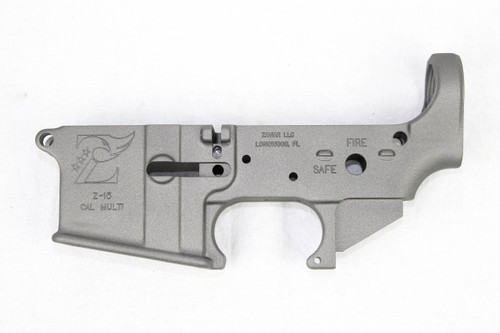 Zaviar Sniper Grey CERAKOTED MIL-SPEC AR15 Stripped Lower Receiver