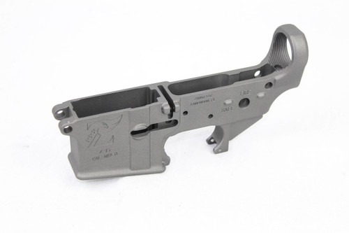 Zaviar Titanium Grey CERAKOTED MIL-SPEC AR15 Stripped Lower Receiver