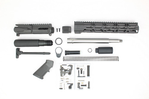 "AR9 - ZAVIAR 'STINGER PDW SERIES' 9.5""/10.5"" STAINLESS STEEL 9MM BUILDER KIT / 1:10 TWIST / 12"" MLOK HANDGUARD"