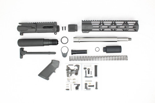 "AR9 - ZAVIAR 'STINGER PDW SERIES' 9.5""/10.5"" STAINLESS STEEL 9MM BUILDER KIT / 1:10 TWIST / 10"" MLOK HANDGUARD"