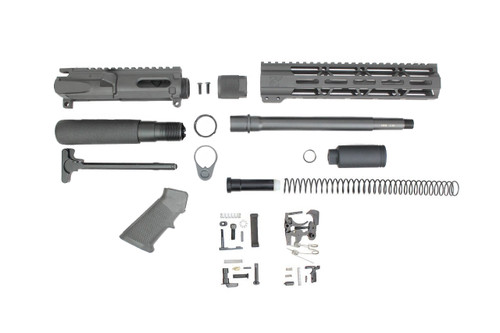"9mm 'Stinger Series' 9.5"" - 10.5"" Overall Nitride Builder Kit / 1:10 Twist / 10"" MLOK Handguard"