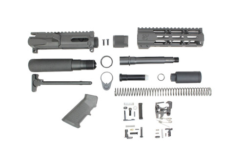 "AR9 - ZAVIAR 9MM 'STINGER PDW SERIES' BUILDER KIT / 5.5""-6.5"" NITRIDE / 1:10 TWIST / 7"" MLOK HANDGUARD"