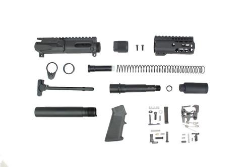 """AR9 - ZAVIAR 9mm 'STINGER PDW SERIES' BUILDER KIT / 4.5""""-5.5"""" NITRIDE 9MM / 1:10 TWIST / 4"""" MLOK HANDGUARD"""