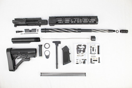 "ZAVIAR 18"" BEAR CLAW FLUTED BUILDER KIT / 1:8 TWIST / 12"" MLOK HANDGUARD"