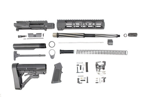 ".223 Wylde 'Operator Series' 16"" Bear Claw Fluted Builder Kit / 1:8 Twist / 10"" MLOK Handguard"