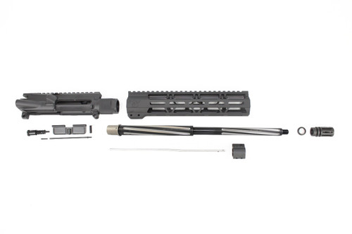 ".223 Wylde 'Operator Series' 16"" Bear Claw Fluted Upper Kit / 1:8 Twist / 10"" MLOK Handguard"