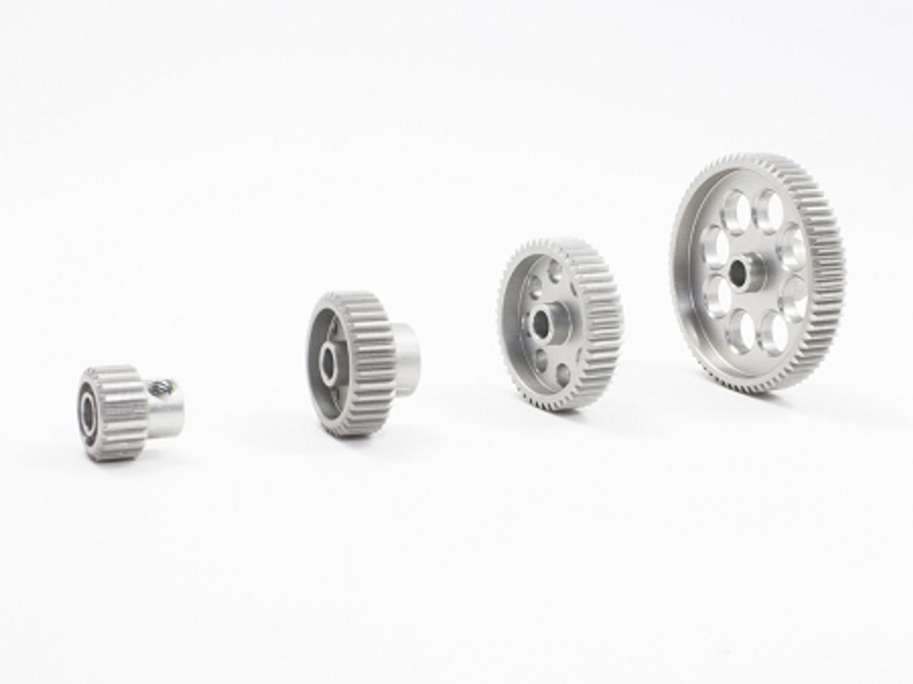 Ultra Lightweight Aluminum Pinion Gear 48 Pitch Thin 20 Tooth Trinity