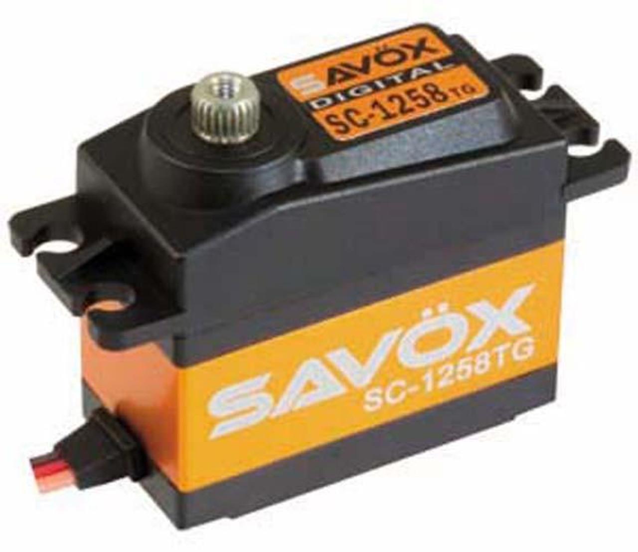 SC1258TG-BE Savox Black Edition Standard Size Coreless Digital Servo .08//166