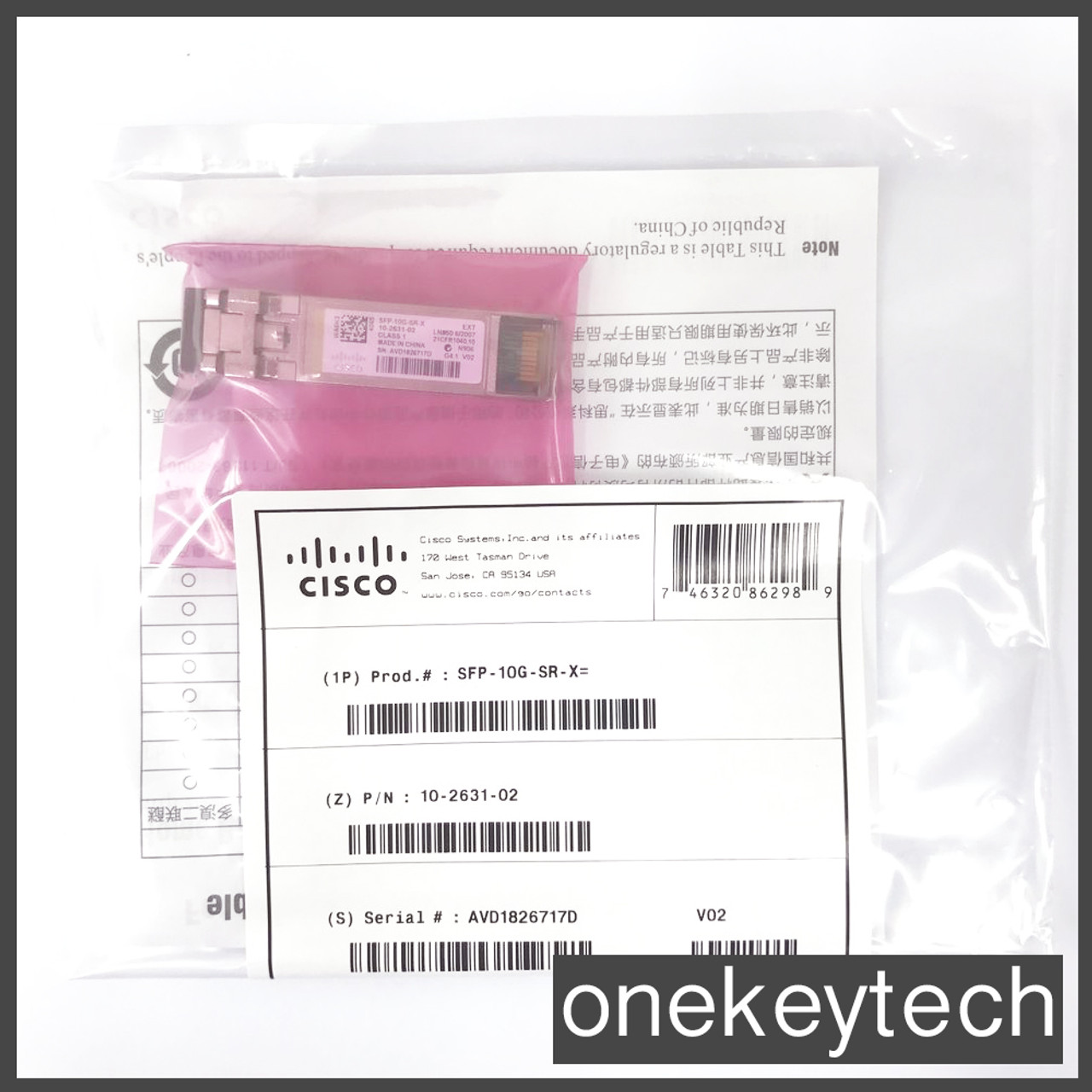 MMF Transceiver Module US Shipping,NEW Sealed Cisco SFP-10G-SR-S SFP