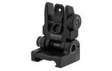 UTG ACCU-SYNC Spring-Loaded AR15 Flip-up Rear Sight, Black