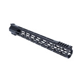 "15"" M-LOK Lightweight Free Float Rail -  AR15 - Black"