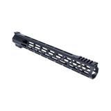 "15"" M-LOK Lightweight Free Float Rail - AR10/LR308 DPMS Low Profile - Black"