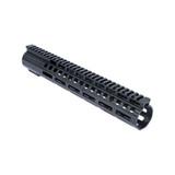 "12"" M-LOK Lightweight Free Float Rail - AR10/LR308 DPMS Low Profile - Black"