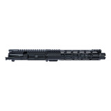 """8"""" 300 BLACKOUT Faxon Nitride Mid-Weight Barrel AR15 Upper Assembly with 10"""" Rail and Slim Cone Flash Can"""