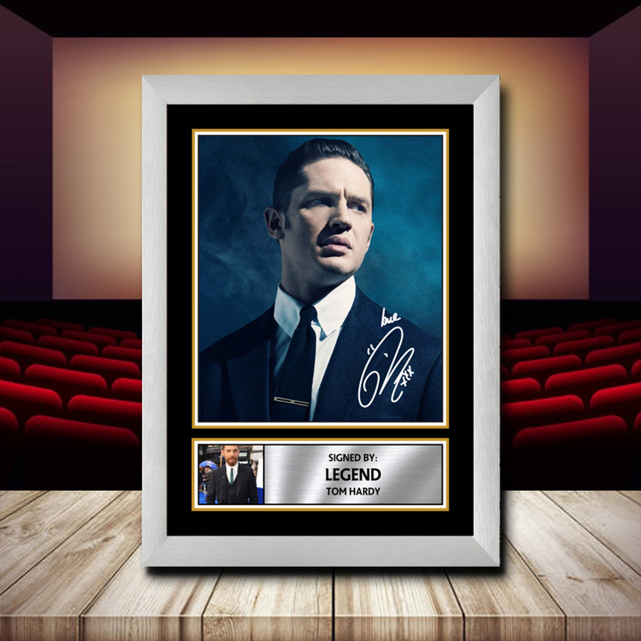 Tom Hardy Signed Framed Poster Autographed Print LEGEND A1 A2 A3 A4 FILM