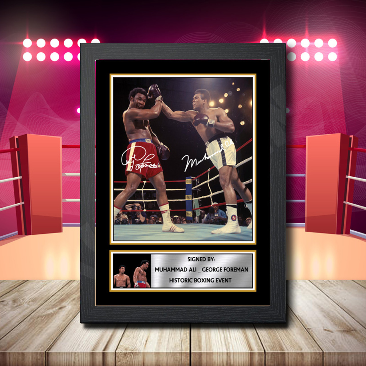 Muhammad Ali Autographed Poster Print A3 A2 A1 Sizes